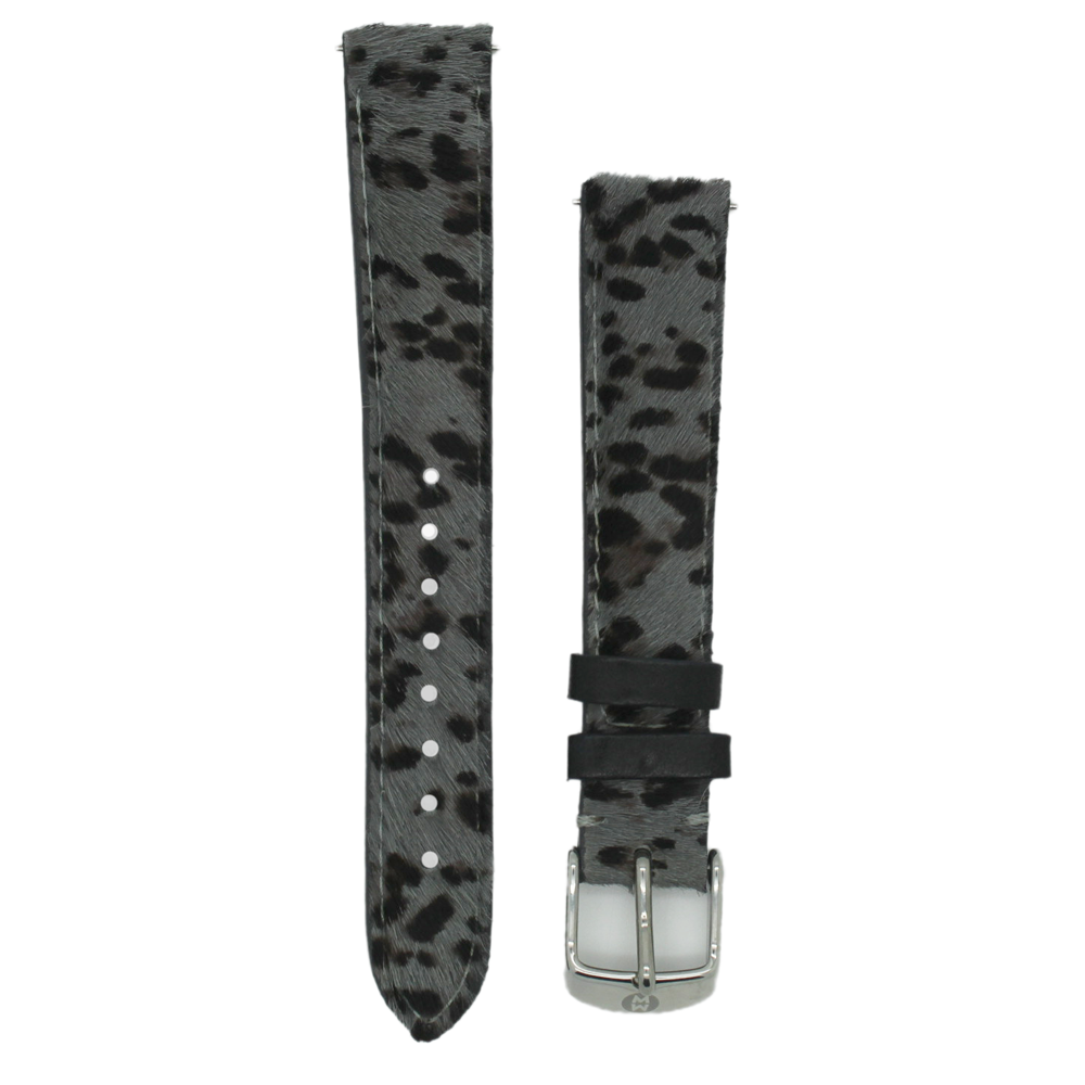 Primary image for Michele MS16AA530639 16mm Grey Cheetah Genuine Calf Hair Strap