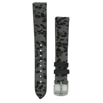 Michele MS16AA530639 16mm Grey Cheetah Genuine Calf Hair Strap - $53.54
