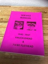Harley-Davidson Factory Service Manual 40-47 Big Twins -   ACS Reprint 1984 - $45.54