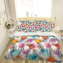 3D Black Feather 1026 Bed Pillowcases Quilt Duvet Single Queen King US S... - $102.84+