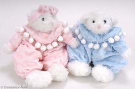 "Bouquet & Compan Baby Nursery Set Boy & Girl Bears 11"" Pink & Blue New T... - $14.21"
