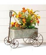 Farmhouse new Wagon Planter in Distressed Tin - $104.99