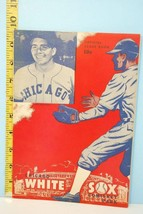 1949 Chicago White Sox Baseball Scorecard Program vs Cleveland Scored - $49.50