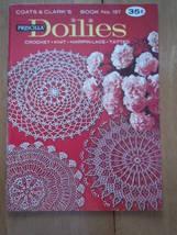 Vintage Coats & Clark Book No.197 Priscilla Doilies Crochet Knit Hairpin... - $6.99