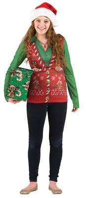 Ugly Christmas Sweater Vest Womens Adult Costume Party FR116450