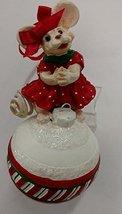 Merry Chrismouse on Ball Ornament (Girl) - $17.50