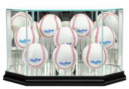 8 Ball Baseball Display Case with Glass Top and Octagon Black Base