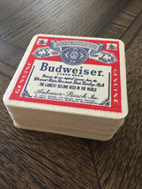 LOT OF 25 NEW BUDWEISER BAR COASTERS, VINTAGE 1970'S, 'WHEN YOU SAY BUDW... - $25.00