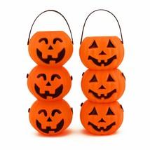 12pk Mini Plastic Jack O Lantern Pumpkin Halloween Party Favor Candy Buc... - $9.49