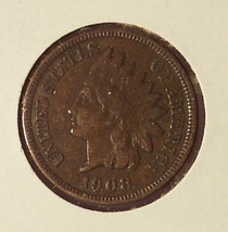 1908 Indian Head Penny VF #0383 - $4.79