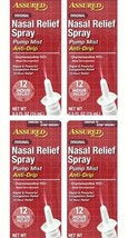 4 Pk Assured 12 Hour Nasal Relief Sinus Spray Oxymetazoline HCI Compare ... - $11.82