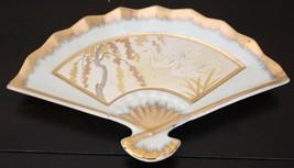 "Chokin Art Plate Peacocks 24 Kt Gold Rimmed Japan Collectible 6.5""L x 10W - $35.99"