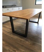 """Industrial farm house kitchen table, with 2 benches,  6ft x 37"""" - $999.00"""