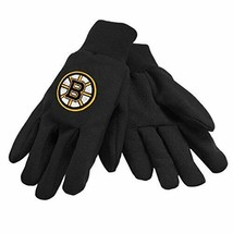 FOCO NHL Boston Bruins Embroidered Utility Gloves Pair One Size Fits Most - $8.86