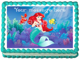 ARIEL The little mermaid Edible cake topper image design - $6.50+