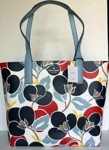 New Kate Spade Mya Breezy Floral Arch Place Reversible Tote & Pouch Blue... - $119.00