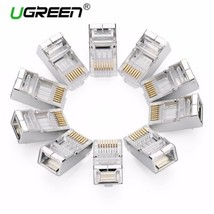 Ugreen Cat6 RJ45 Stecker 8P8C Modulare Ethernet-kabel Kopf Stecker vergo... - $14.59+
