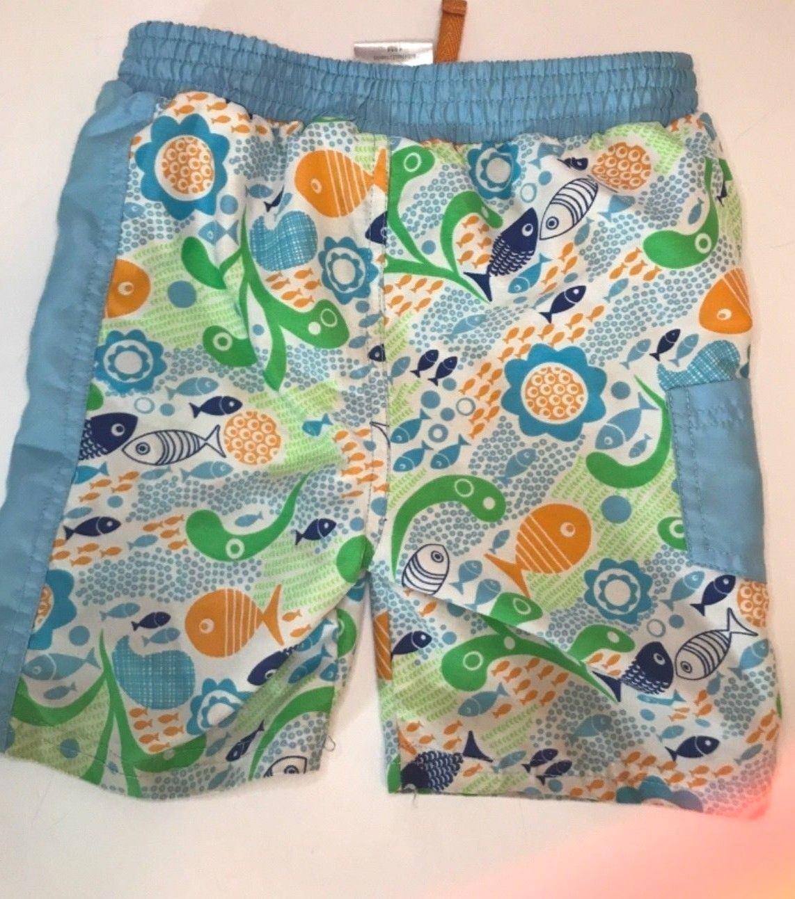 Toddler Boys Blue Swim Trunks 18 Months absorba Swim Bottom Board Shorts - $6.18
