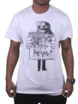 WeSC Herren We Are Superlative Conspiracy Weiß Protest Birger Burger T-Shirt