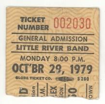 RARE Little River Band 10/29/79 Portland OR Concert Ticket Stub! - $11.87
