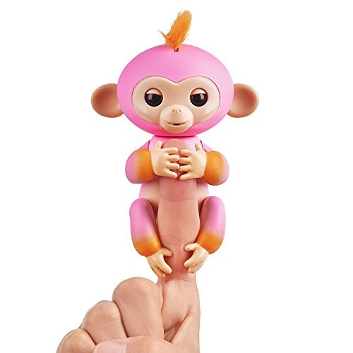Fingerlings 2Tone Monkey - Summer Pink with Orange Accents - Interactive Baby Pe