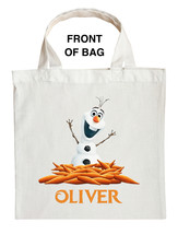 Olaf Trick or Treat Bag - Personalized Olaf Halloween Bag - Custom Olaf Bag - $11.99+