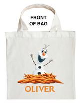 Olaf Trick or Treat Bag - Personalized Olaf Halloween Bag - Custom Olaf Bag - $11.99+