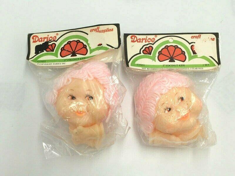 Vintage Darice Mitzi Doll Head and Hand Green Hair