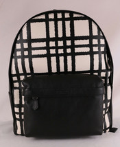 COACH Charles Backpack With Wild Chalk Black Plaid Print F11164 Authenti... - $173.71