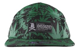 Dissizit Black Green Hawaii Pakalolo Weed Marijuana 5-Panel Strapback Hat Cap NW image 2