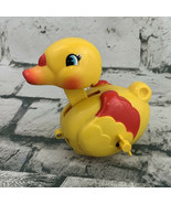 Collectible Vintage Wind Up Toy Duck Yellow Lunging - $14.84