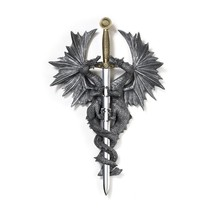 Decorative Wall Art, Dragon Dagger Living Room Hanging Plaque Home Decor... - €25,90 EUR
