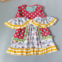 NEW Girls Boutique Bicycle Print Short Sleeve Ruffle Dress - $19.99