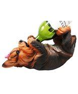 "Ebros Yorkie Canine Dog Wine Bottle Holder Figurine 10.5"" Long Yorkshire... - $26.68"