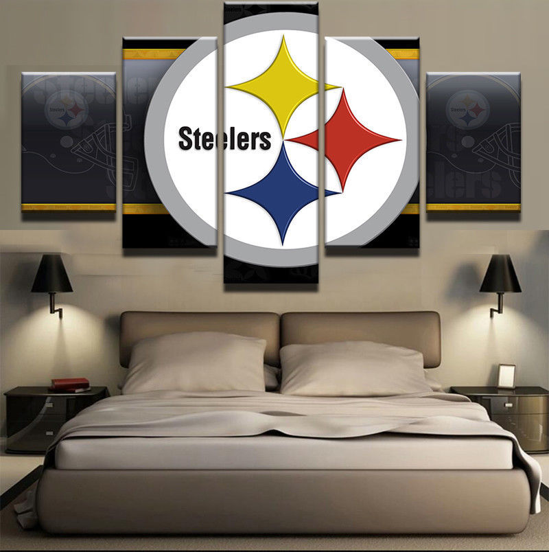 Home Decor Pittsburgh: Pittsburgh Steelers Team Rugby 5 Piece Canvas Art Wall Art