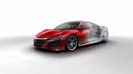 2016 Acura nsx technical  24X36 inch poster, sports car - $21.77