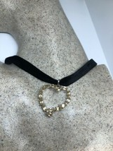 Vintage Yellow Citrine Heart Choker Necklace 925 Sterling Silver - $133.65