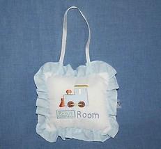 "Chick Pea Nursery Door Room Decoration Hanger Pillow Train Small 6"" Baby... - $7.80"