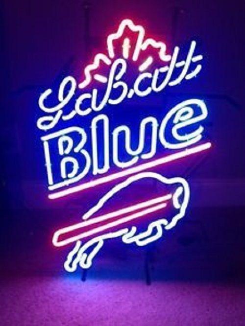"New Labatt Blue Maple Buffalo Bills NFL Beer Man Cave Neon Sign 24""x20"""