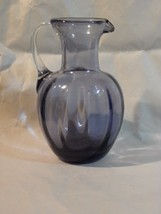 "Small Lavender Paneled Ribbed Pitcher 4 1/2"" - $6.19"