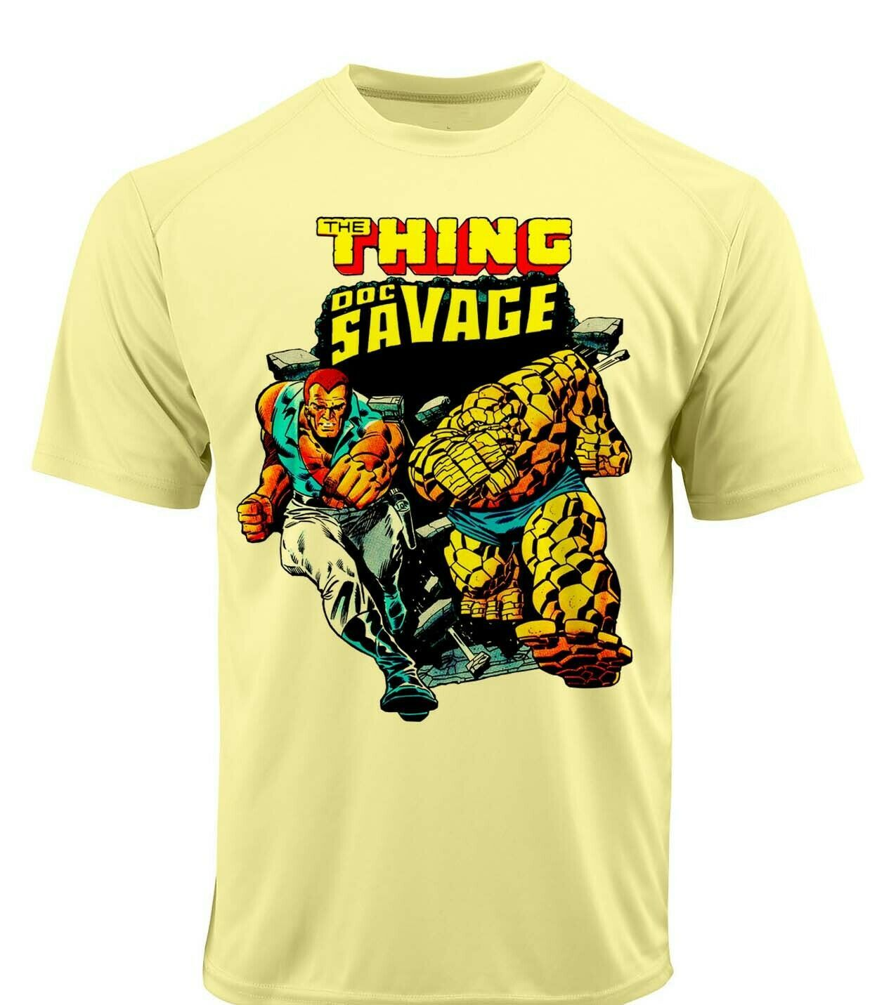 Thing doc savage dri fit graphic tshirt moisture wicking superhero comic spf tee 2