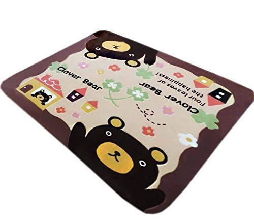 Soft Brown Bear Baby Play Mat 59 by 39 Inches
