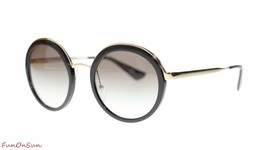 Prada Round Womens Sunglasses PR50TS 1AB0A7 Bla... - $218.25