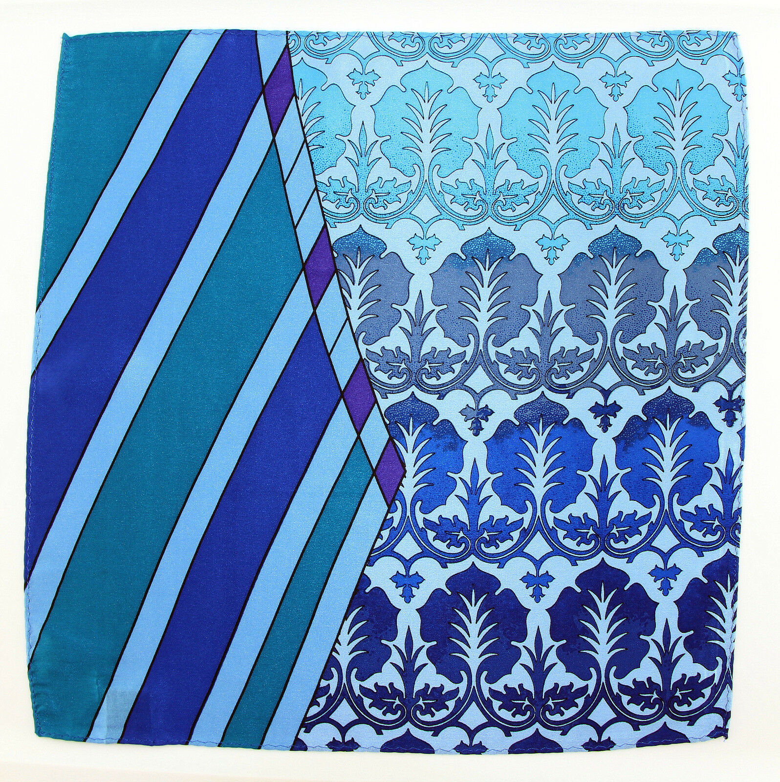 Men's Pocket Square Handkerchief Wedding Fashion Dress Silk Green Blue Hanky
