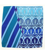Men's Pocket Square Handkerchief Wedding Fashion Dress Silk Green Blue H... - $19.75
