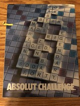 ABSOLUT CHALLENGE AD -2000-Scrabble Board-MINT - $3.99