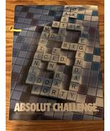 ABSOLUT CHALLENGE AD -2000-Scrabble Board-MINT - $3.99