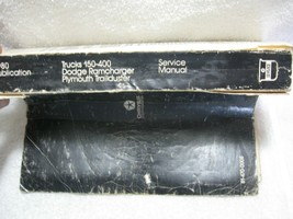 1980 Oem Dodge Trucks 150-400, Ramcharger & Plymouth Trailduster Service Manual! - $19.95