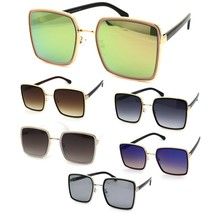 Womens Classic 90s Double Rim Squared Butterfly Sunglasses - $12.95