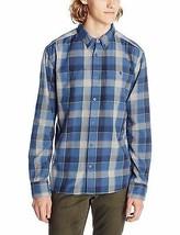 New DC Men's Midweight Flannel Long Sleeve Woven Top - Flannel Blue - Medium - $25.69